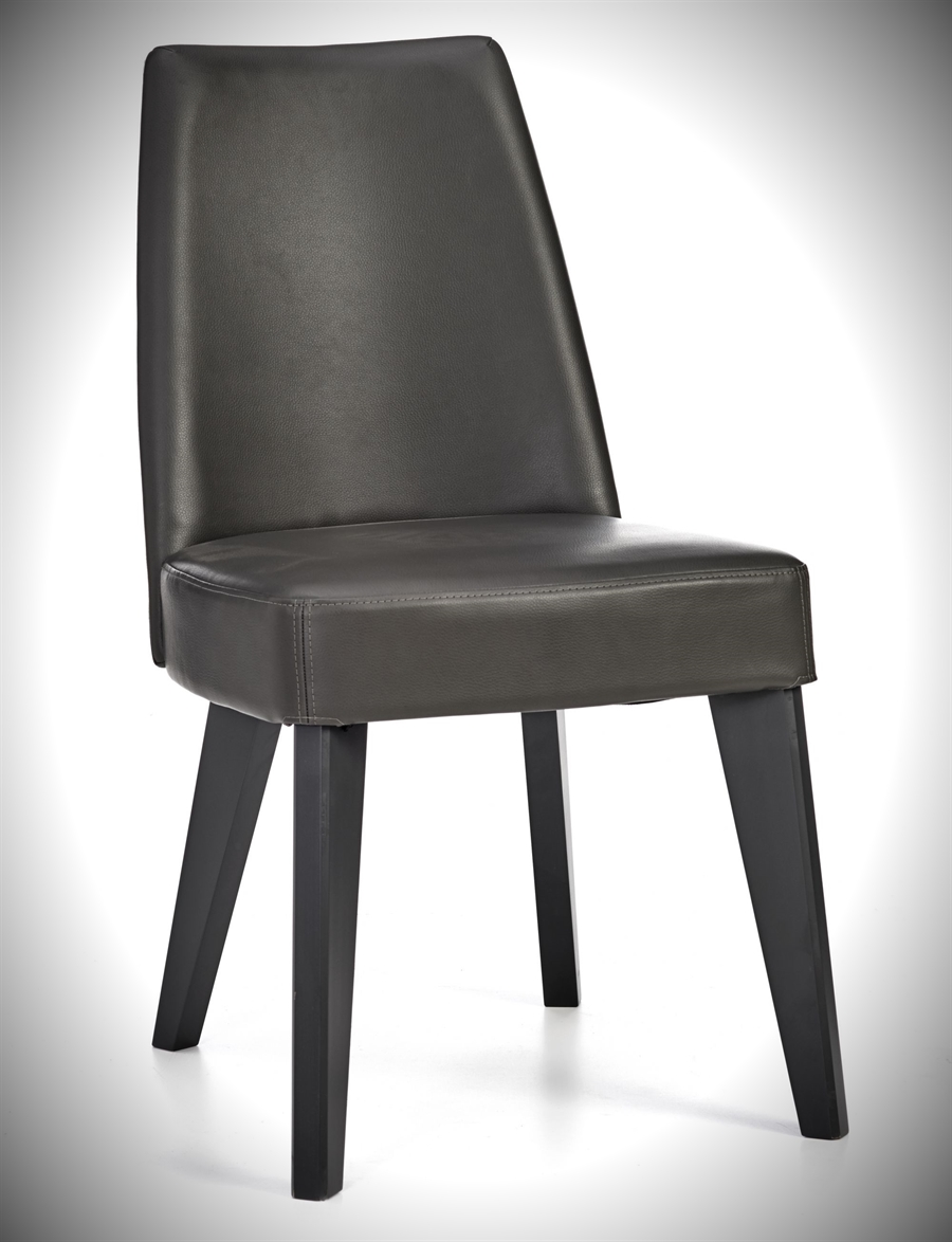 Brunel Chair - Fixed - Grey Bonded Leather