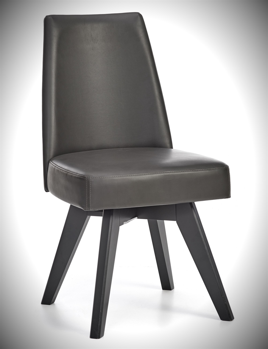 Brunel Chair - Swivel - Grey Bonded Leather