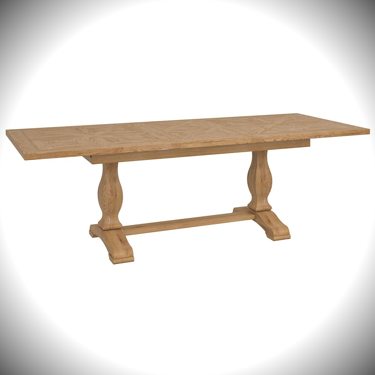 Belgrave 6-8 Extension Table - Rustic Oak