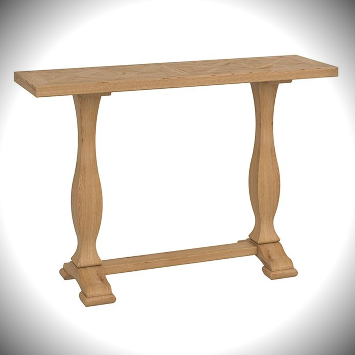 Belgrave Console Table - Rustic Oak