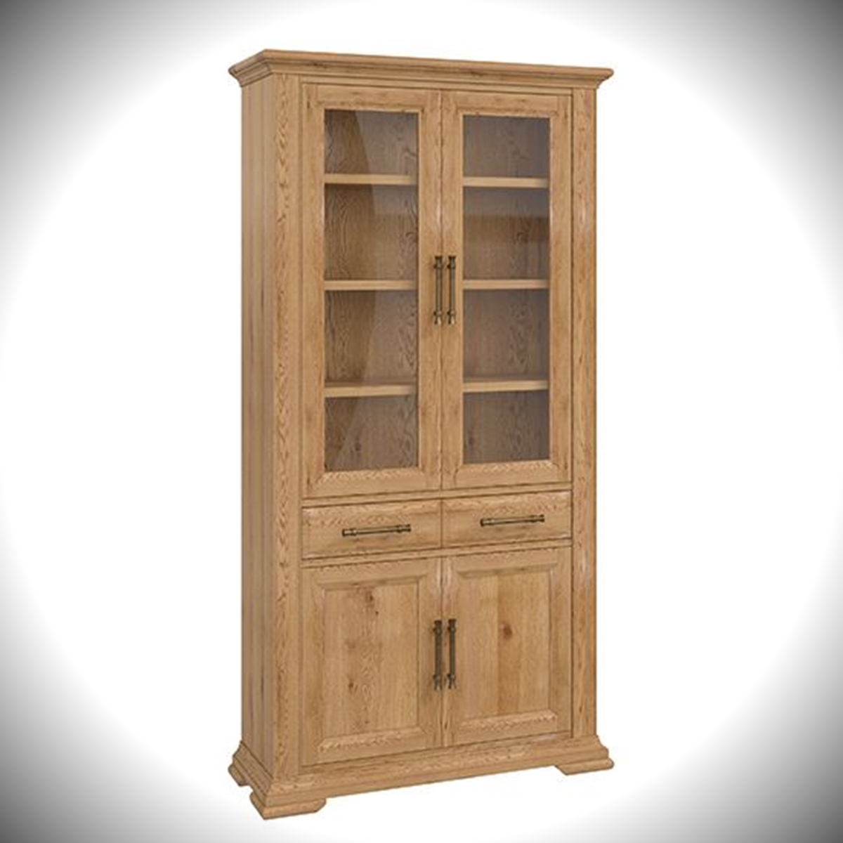 Belgrave Display Cabinet - Rustic Oak