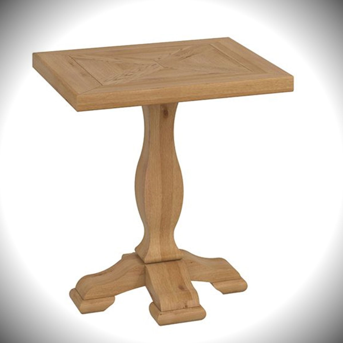 Belgrave Lamp Table - Rustic Oak