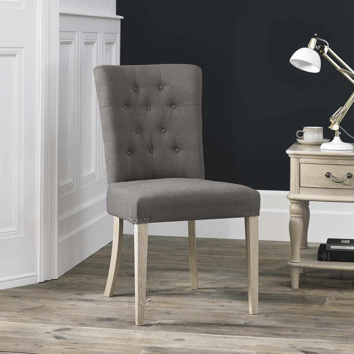 Bordeaux Chair - Upholstered - Titanium Fabric