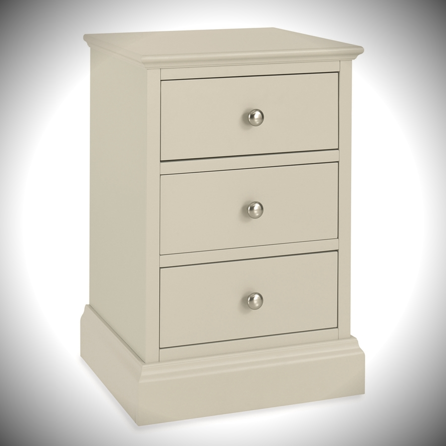 ashby cotton 3 drawer bedside