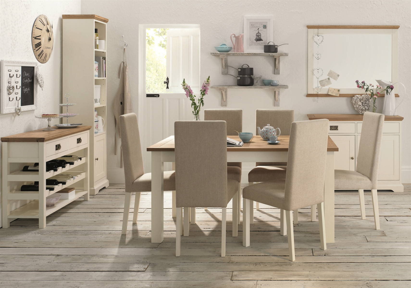 bentley designs two tone dining set