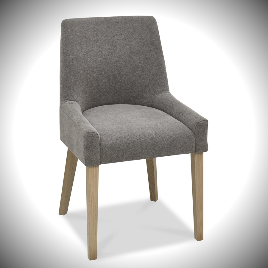 Turin Scoop Upholstered Chair - Smoke Grey Fabric