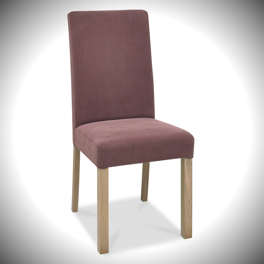 Turin Square Back Chair - Mulberry Fabric