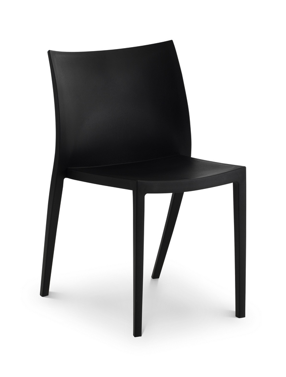 Fresco Indoor Outdoor Stacking Chair Black